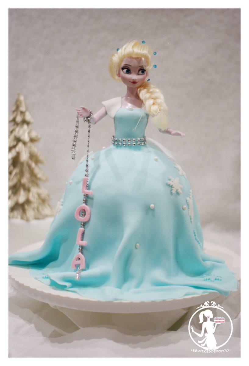 Gateaux robe reine des neiges lola les d lices de pompou - Robe reine des glaces ...